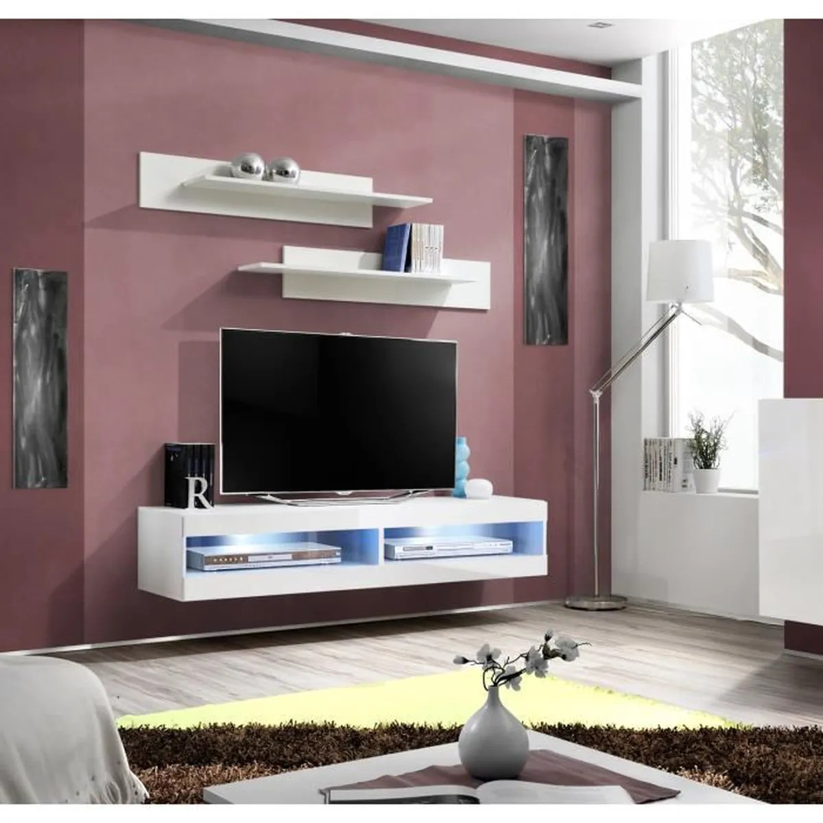 Grand Meuble Tv Design Grand Meuble Tv Fly 34 à Suspendre 160x30x40cm B