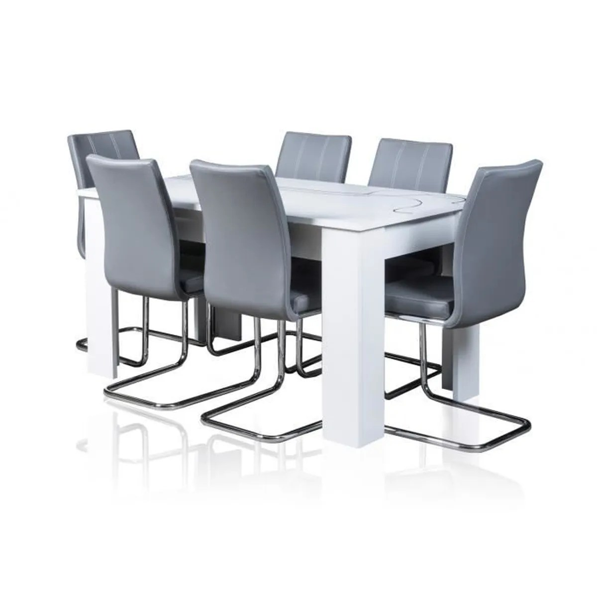 Table Extensible Avec Chaises Table Extensible 6 Chaise Achat Vente Table Extensible