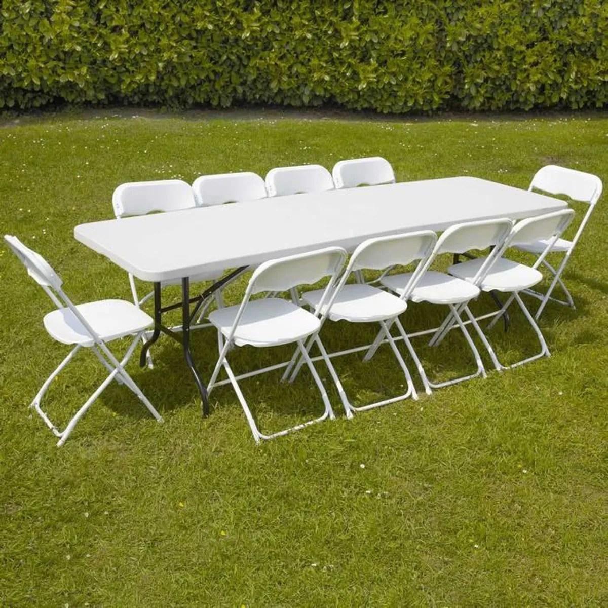 Bora Ensemble Table De Jardin 220cm Et 6 Fauteuils