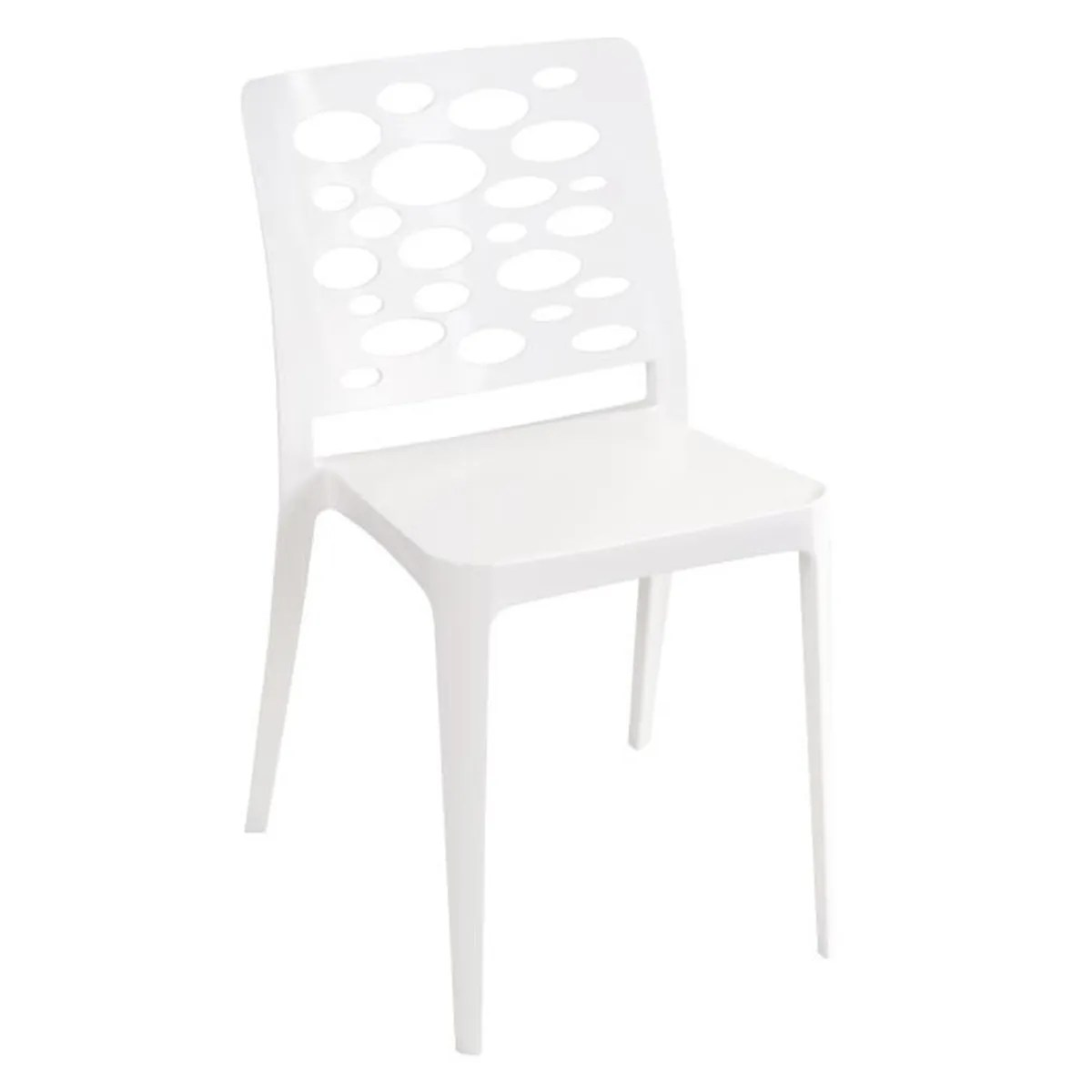 Lot Chaises Jardin Lot 8 Chaises Jardin Empilables Blanches Dossier A