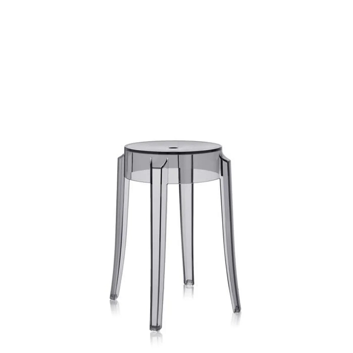 Tabourets Bar Exterieur Cdiscount Kartell Tabouret Charles Ghost H46 Cm Fumé Achat