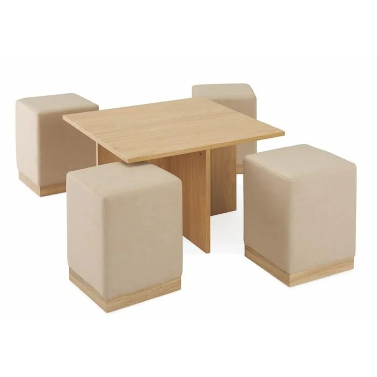 Table Encastrable Table Basse CarrÉe 43 4 Poufs Encastrable Lyz Achat