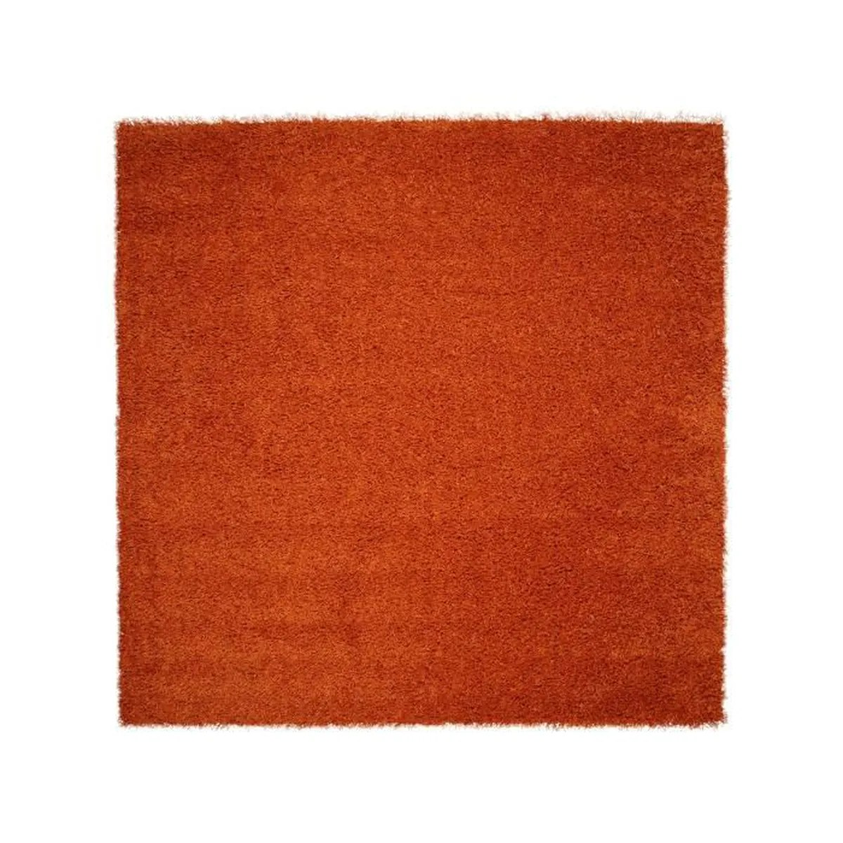 Tapis Shaggy Orange Tapis Shaggy à Poils Longs Cambria Orange 60x60 Cm Tapis