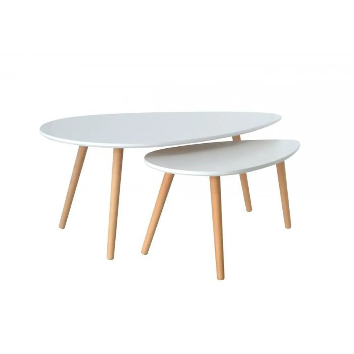 Tables Basses De Salon Pliantes Table Basse Scandinave Blanc Avesta Achat Vente Table