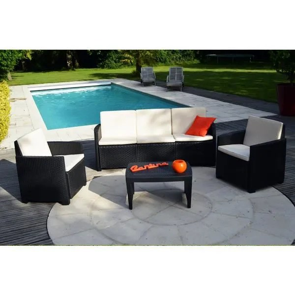 Salon De Jardin Allibert 5 Places Salon De Jardin Resine Tressee Gris Anthracite - Achat