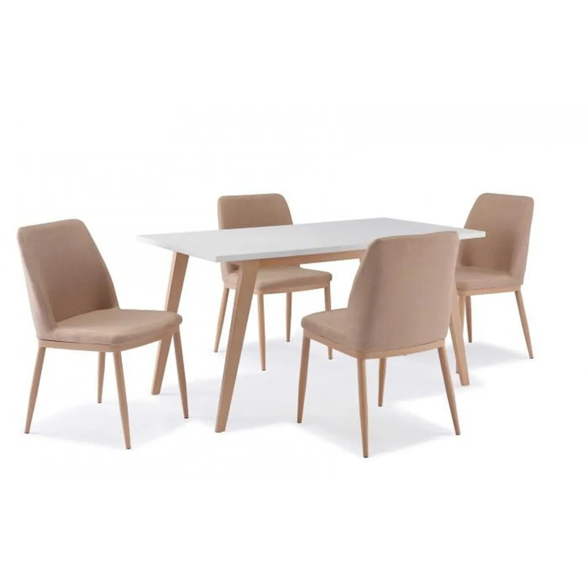 Ensemble Table Carrée Et Chaises Table 43 4 Chaises Scandinave Yeta Achat Vente Table A