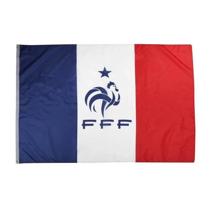 Table Pliante Blanche Drapeau Fff - Collection Officielle Equipe De France De