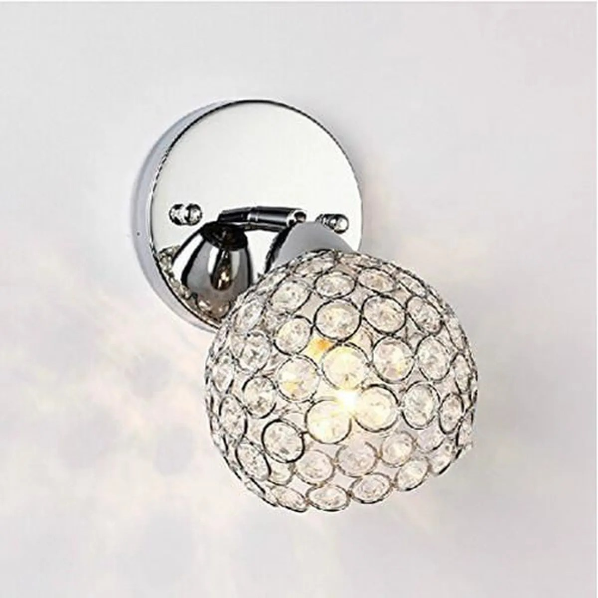 Luminaire Mural Chambre Lightess Applique Murale Design Cristal 1 Ampoule Incandescent
