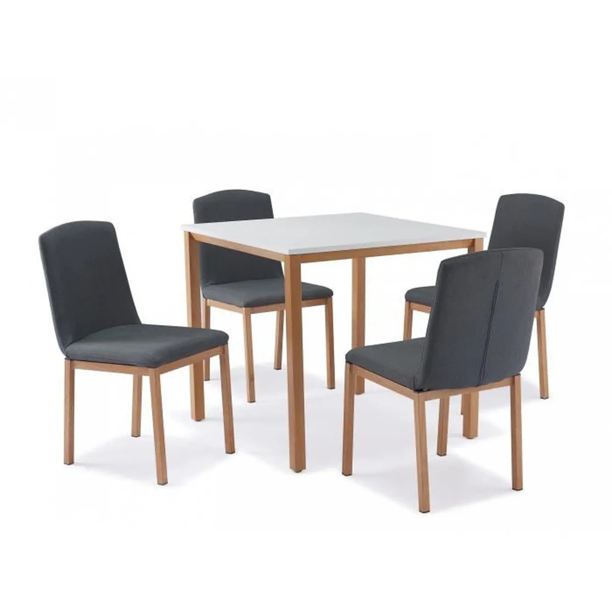 Table Avec Chaise Table CarrÉe + 4 Chaises Scandinave - Achat / Vente Table