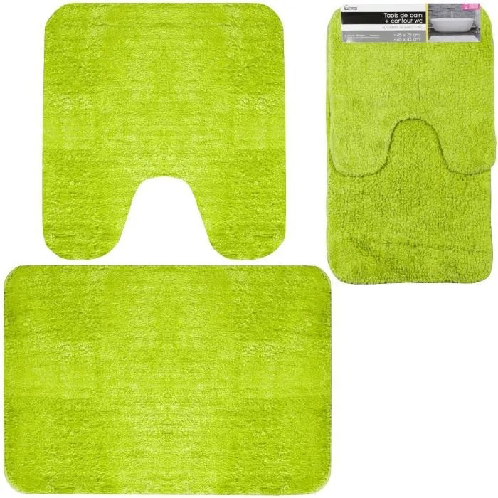 Eminza Magasin Tapis Wc Vert - Achat / Vente Tapis Wc Vert Pas Cher