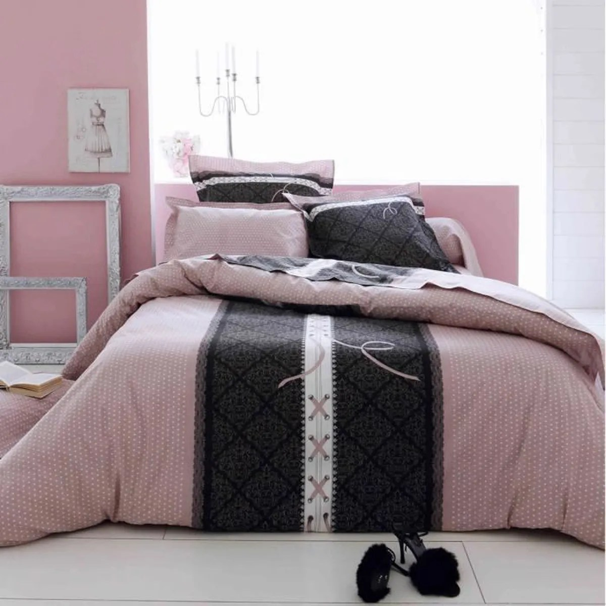 Vente Couette Housse Couette Rose