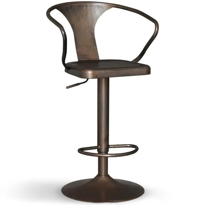 Lot Chaises Bistrot Occasion Chaise De Bar Pivotante Gordon Bronze - Achat / Vente