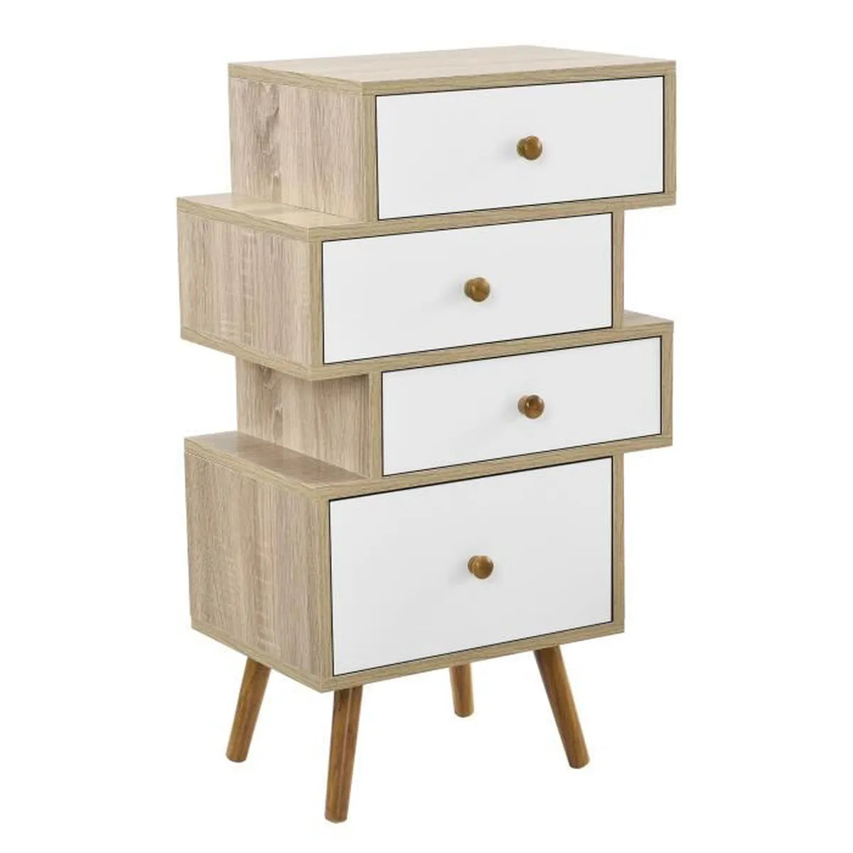 Commode Chambre Design Design Highboard Commode Buffet Armoire Blanc Chêne Table D Appoint