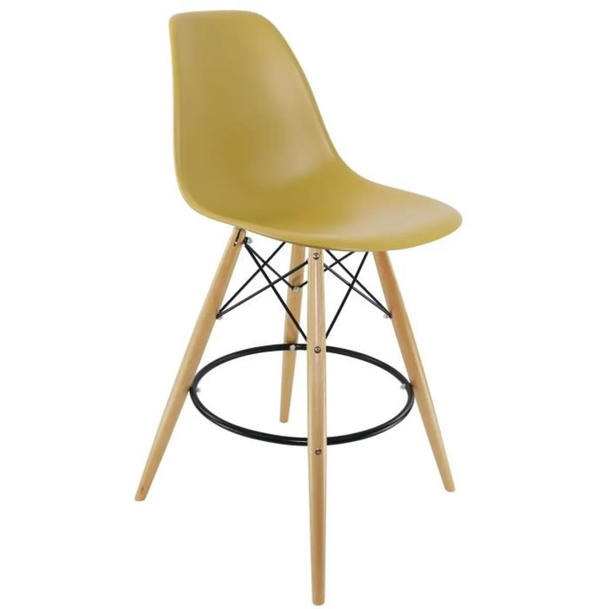 Tabourets Moutarde Chaise Privee Tabouret Dsw Moutarde Naturel Base Ronde