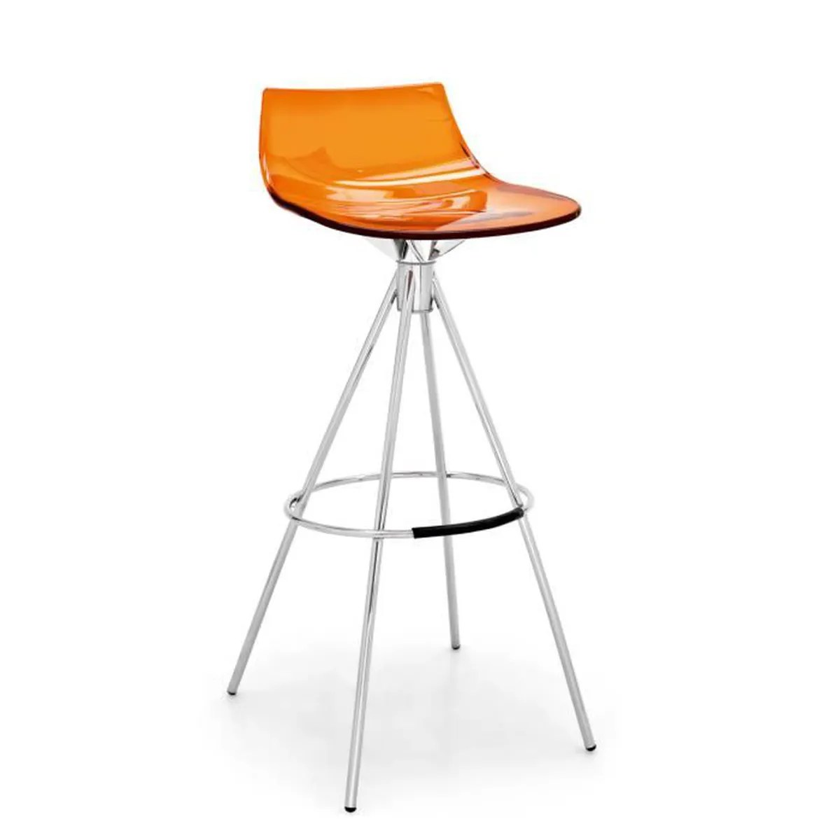 Tabouret Scandinave 65 Cm Tabouret De Bar Led Orange Assise 65 Cm Métal Orange Achat