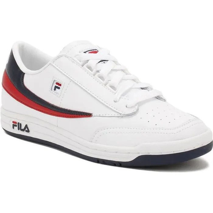 Meuble A Chaussure Original Fila Homme White - Navy - Rouge Original Tennis Baskets-uk