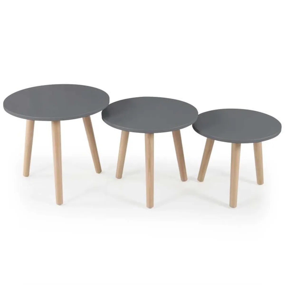 Table Avec Chaise Table A Manger Avec Chaises Lot De 3 Tables Dappoint Scandinaves