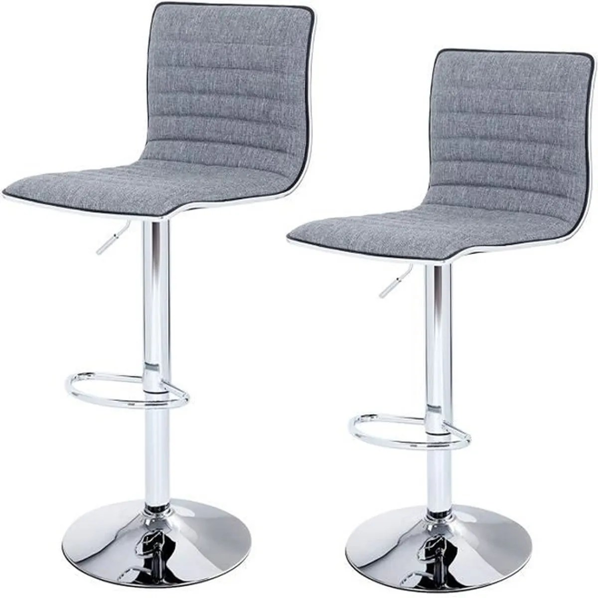 Songmics Lot De 2 Tabourets De Bar Stool Songmics Lot De 2 Tabourets De Bar Chromé Revêtement En Tissu