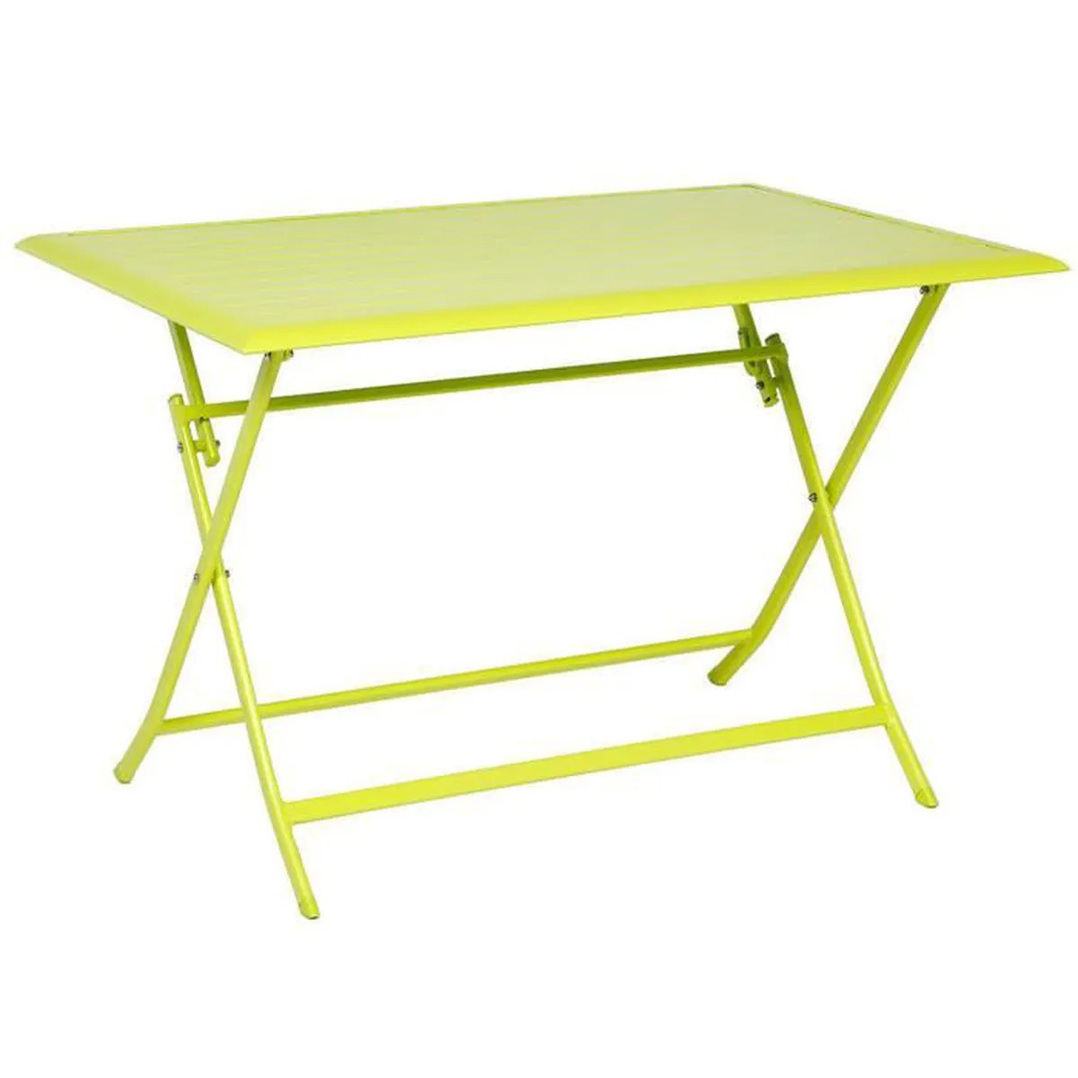 Table Aluminium Pliante Table Pliante Rectangulaire En Aluminium Coloris Granny Dim L