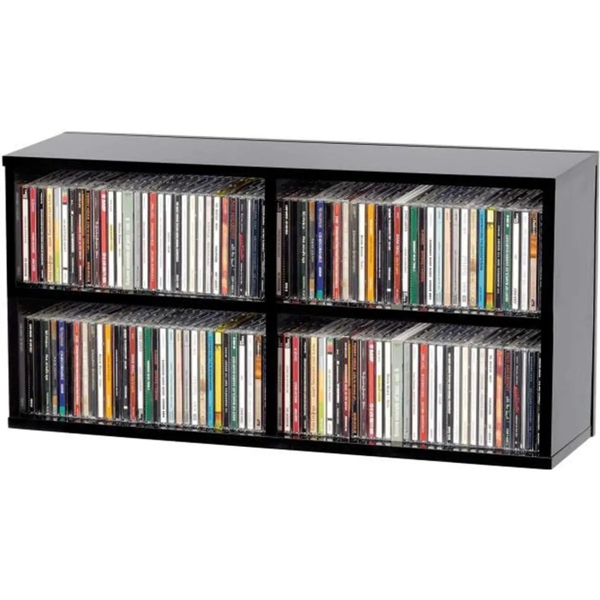 Mobilier Home Studio Glorious Cd Box 180 Casier De Rangement 180 Cd Finition Noir