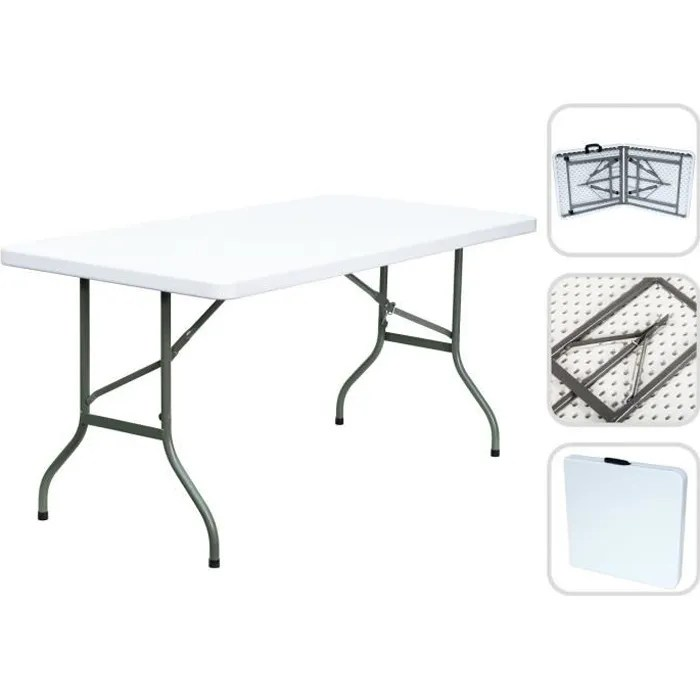 Table Pliante En Plastique Table Pliante Transportable, Table En Plastique Robuste