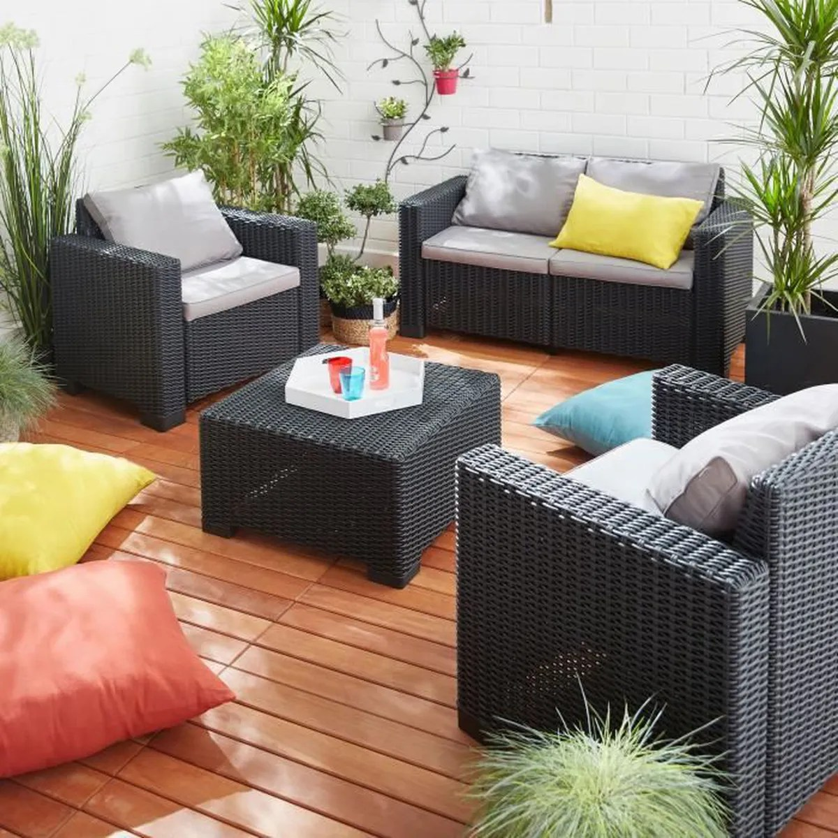 Miadomodo Salon De Jardin Awesome Salon De Jardin Effet Rotin Contemporary House Design