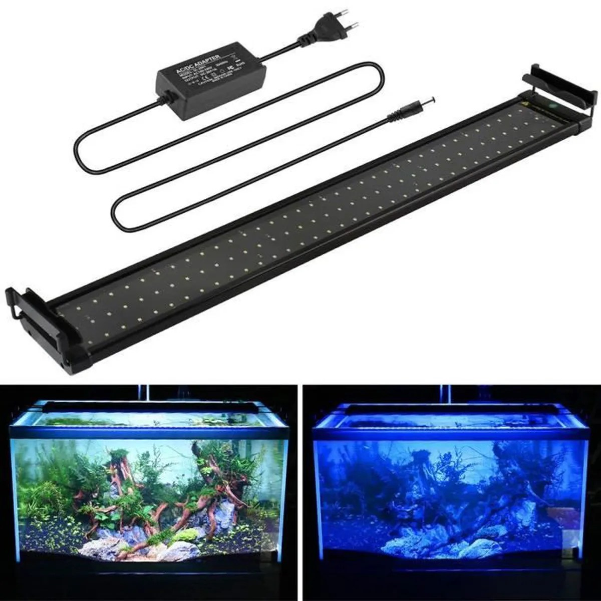 Eclairage Led Dennerle Mainlicht 70 90 Cm éclairage Aquarium Leds 90 Blanc 18 Bleu