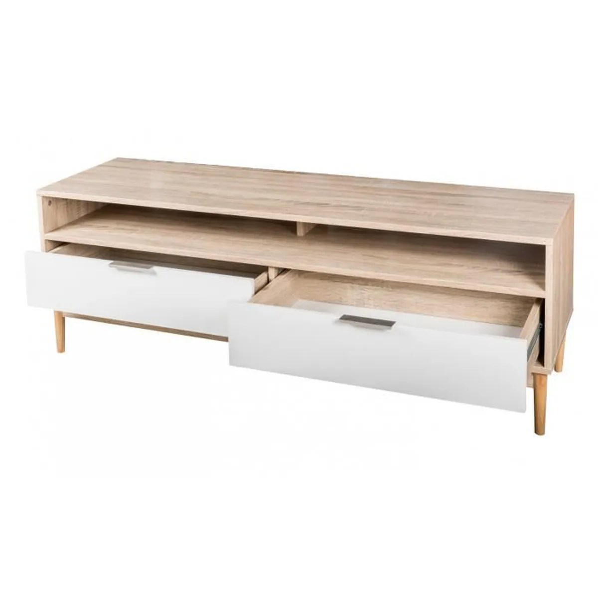 Meuble Tv Scandinave Gaby Sonoma Et Blanc Meuble Scandinave Gaby Weber Industries Home Bahut 2