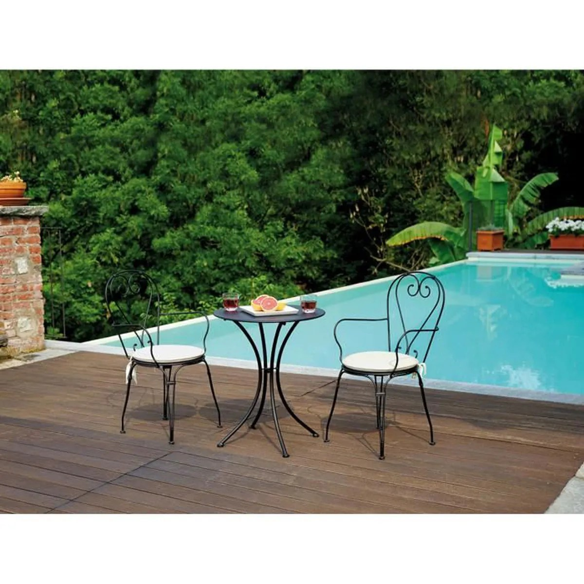 Table De Jardin En Fer Forgé Table Et Chaise En Fer Forge Achat Vente Table Et