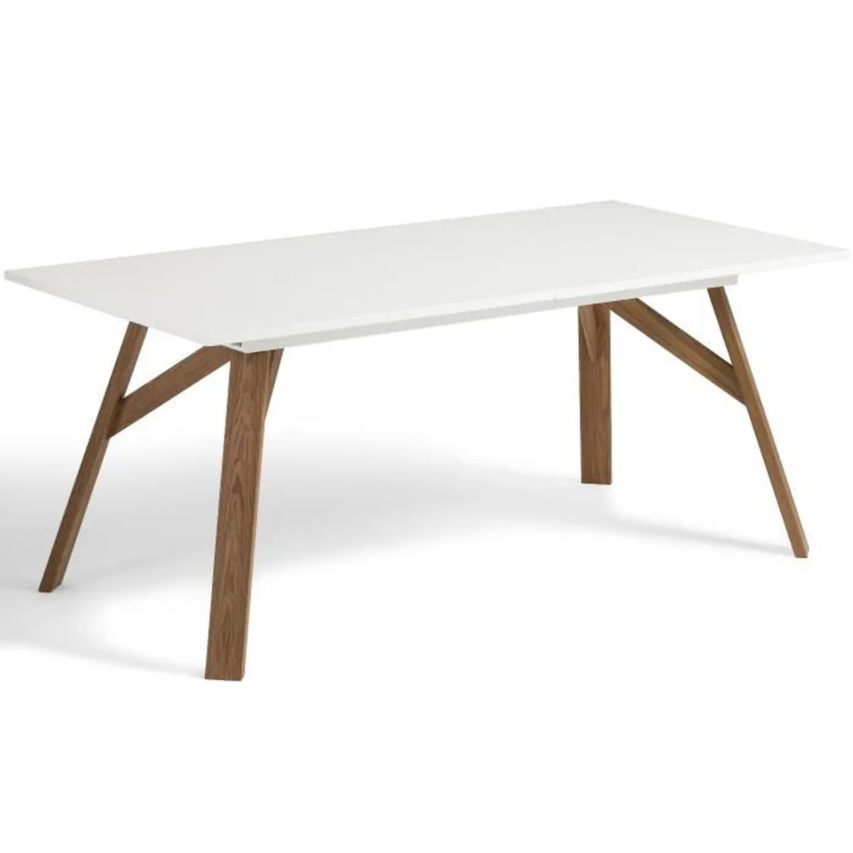 Table à Manger Extensible Design Table à Manger Extensible Design Scandinave Tycka Blanc