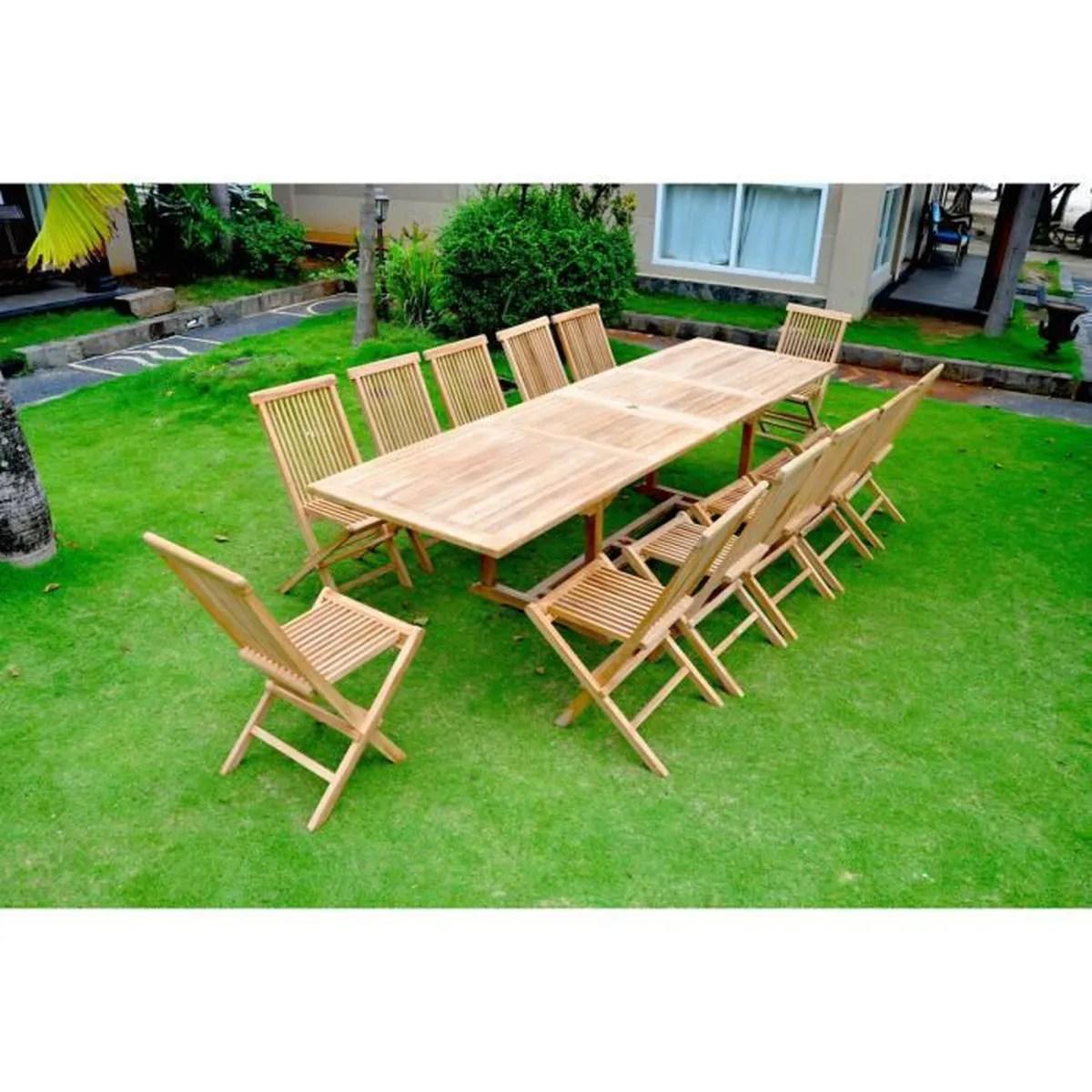 Salon Jardin Teck Brut | Salon Jardin Teck Brut Table De Jardin En ...