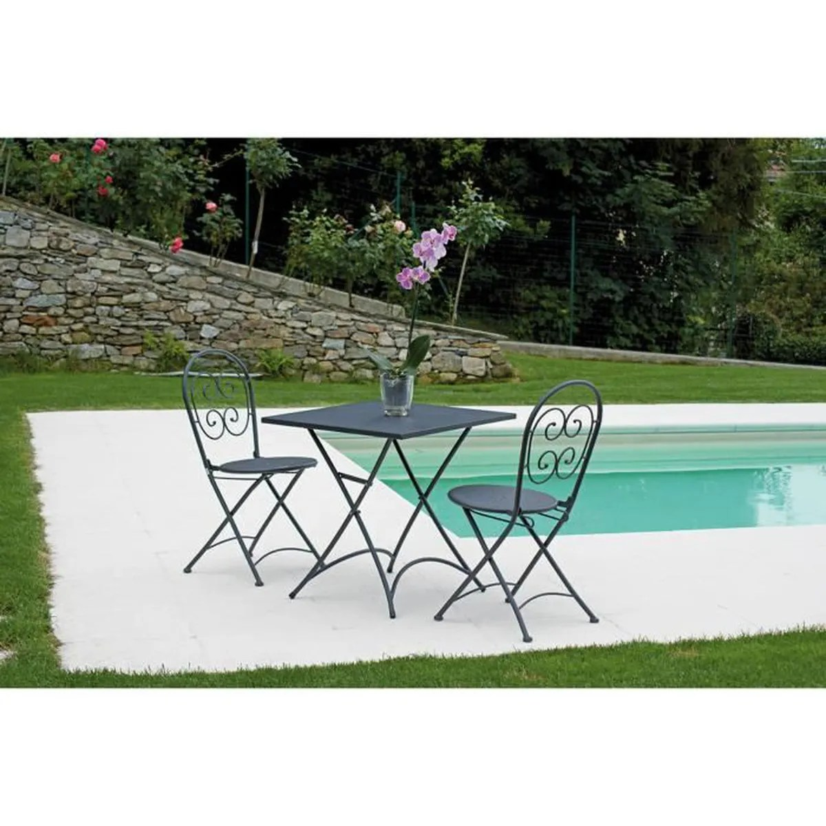 Salon De Jardin Table Pliante Ensemble De Jardin Table Pliante 2 Chaises En Fe