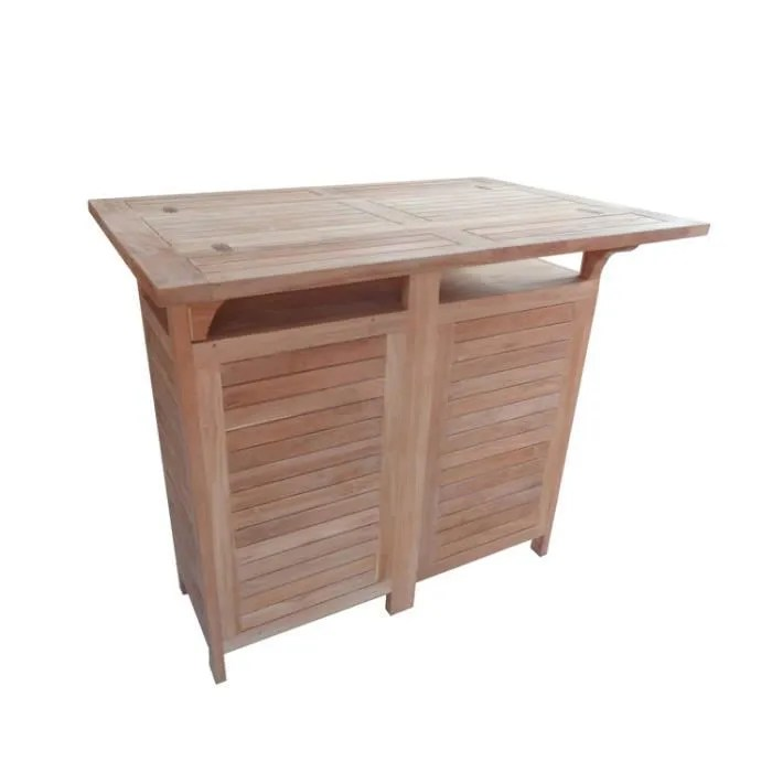 Table Bar De Jardin Table De Bar Jardin 120x70cm Cante - Achat / Vente Table