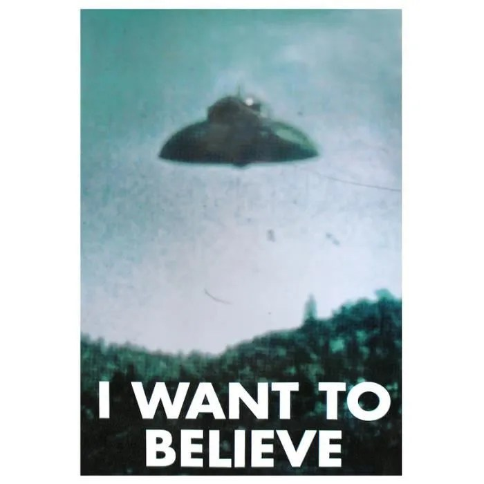 "Serie Decoration Murale Poster Ovni ""i Want To Believe"" - Achat / Vente Affiche"