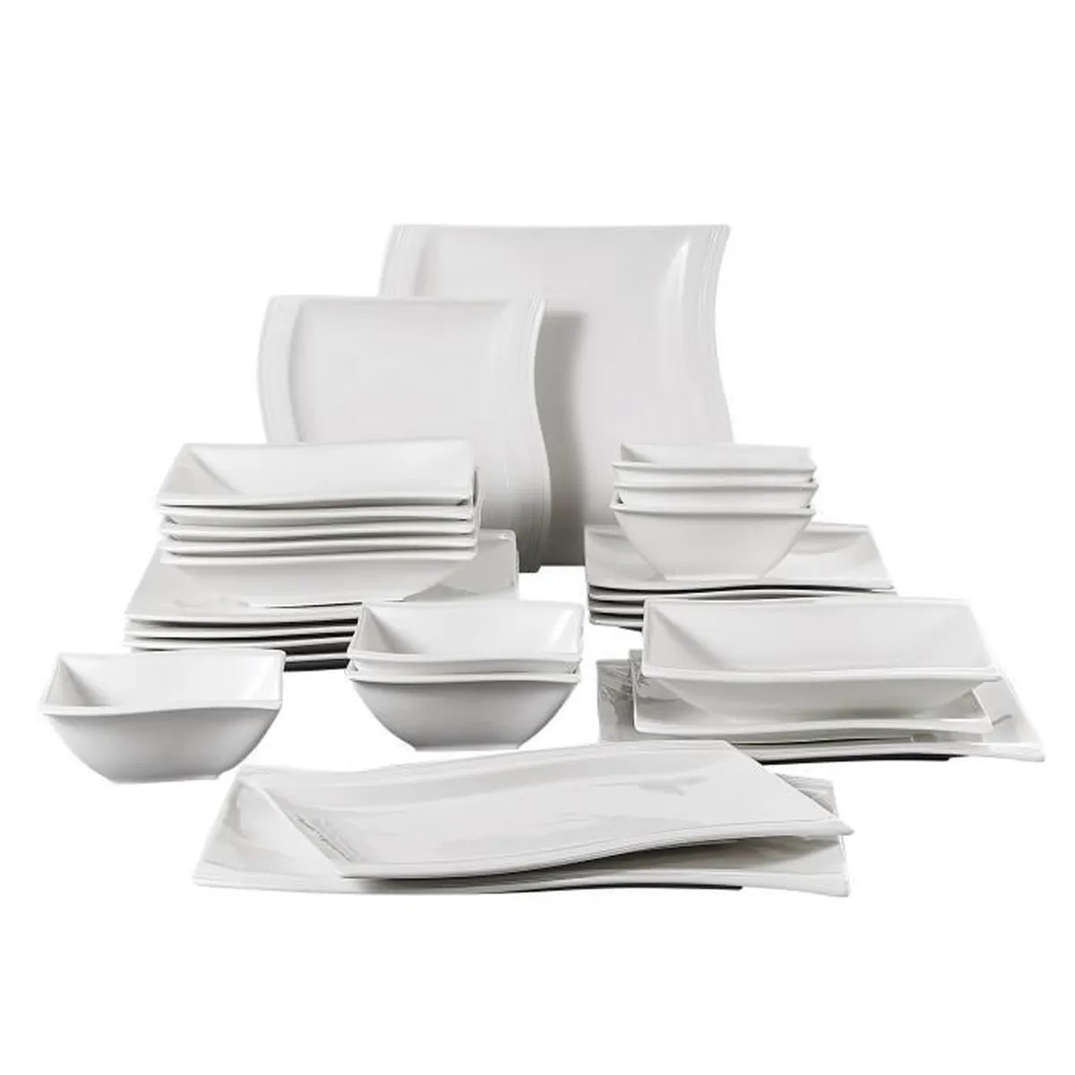Tafelgeschirr Set Malacasa Série Flora 26pcs Service De Table Porcelaine 6