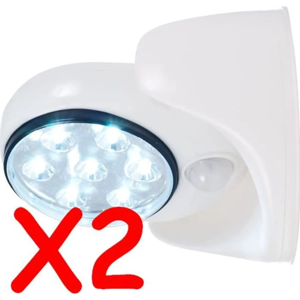 Spot Led Exterieur A Pile Lot 2 Spot Lampe Detecteur De Mouvement 7 Led Exterieur Interieur