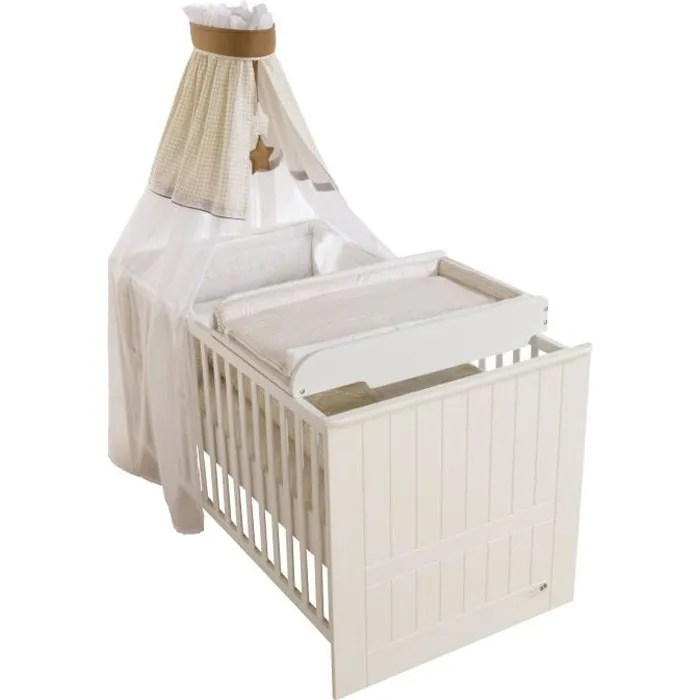Lit b b table langer int gr e - Lit de bebe avec table a langer ...