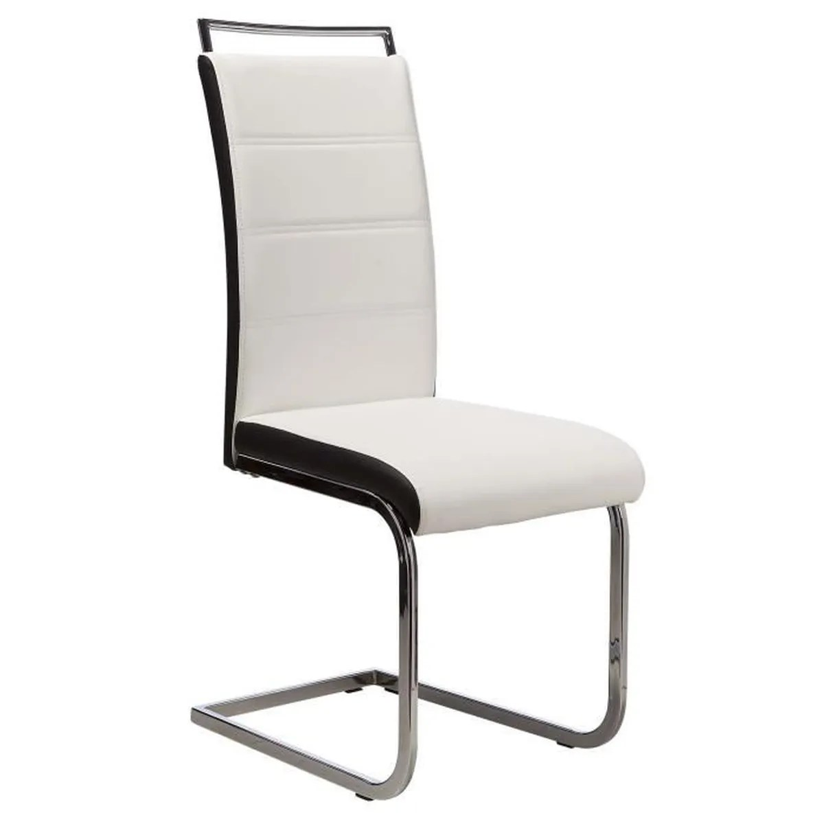 Chaise Salon Blanche Dylan Lot De 4 Chaises Salon Blanc Noir