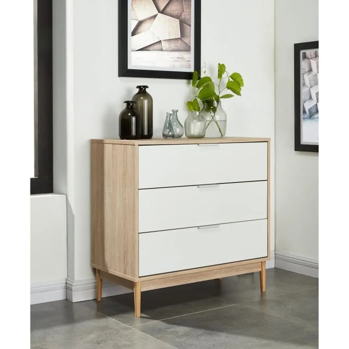 Commode Chambre Adulte Charlotte Commode Chambre Adulte Style Contemporain Pieds