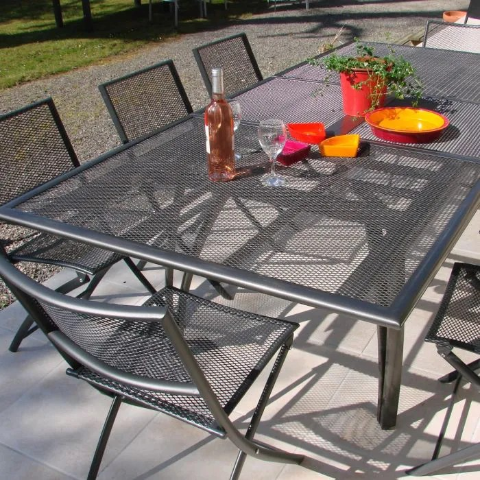 Table Jardin 8 Personnes Table Alu Perforée - Achat / Vente Table De Jardin Table