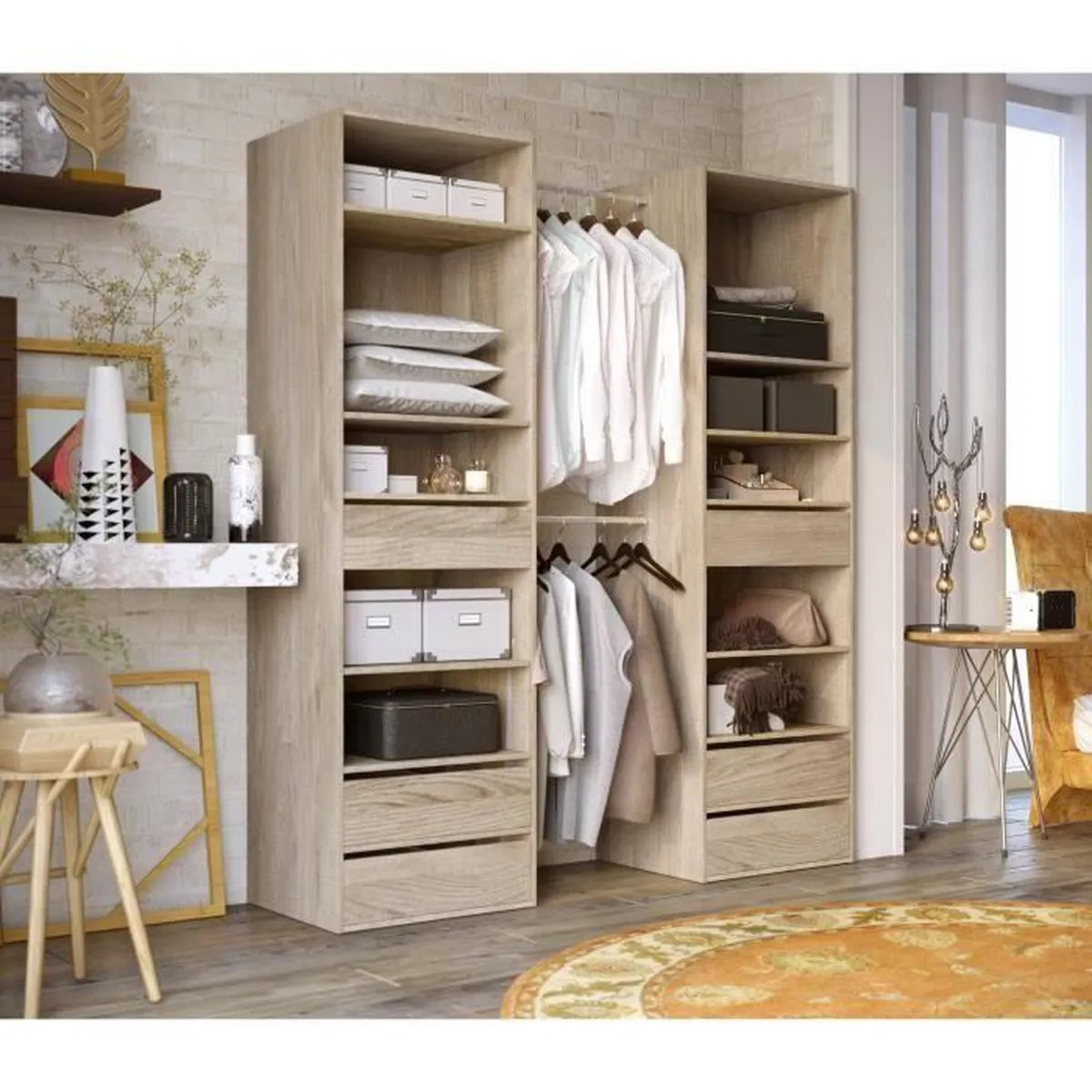Armoire Dressing Cdiscount Kit Dressing Achat Vente Kit Dressing Pas Cher Cdiscount