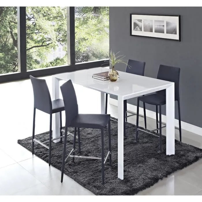 Table Haute Extensible Table A Manger Haute Extensible