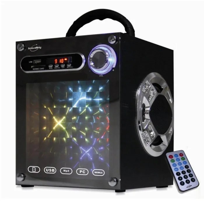 Usb Led Lampe Inovalley Dance Cube Enceinte Portable Lumineuse - Lampe