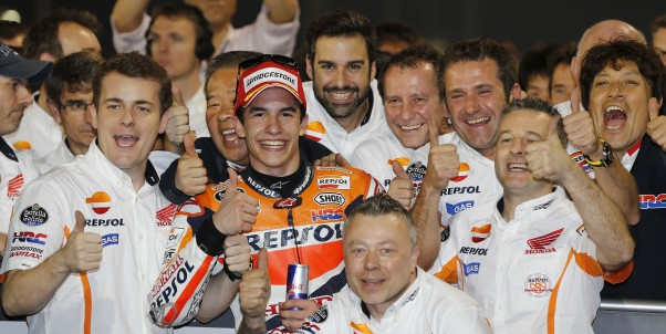 Double Repsol Honda Podium in Qatar as Marquez takes victory with Pedrosa in 3rd