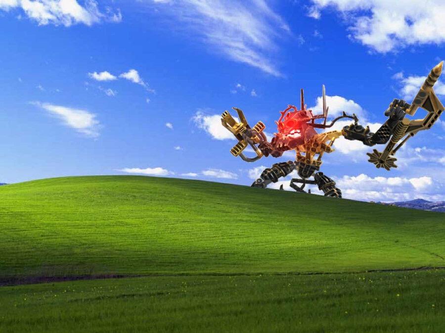 Wallpaper Geek Girl Bionicle Windows Xp Bliss Wallpaper Know Your Meme