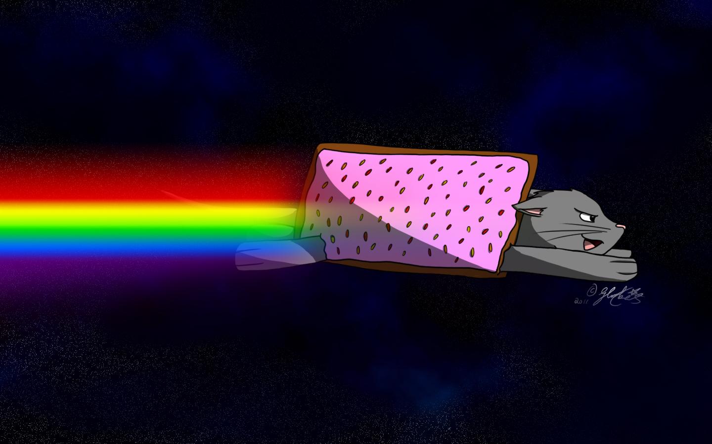 Cat Girl Anime Live Wallpaper Image 123626 Nyan Cat Pop Tart Cat Know Your Meme