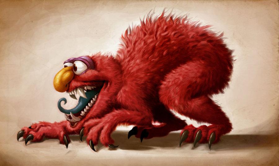 Creature Girl Wallpaper Monster Elmo Sesame Street Know Your Meme