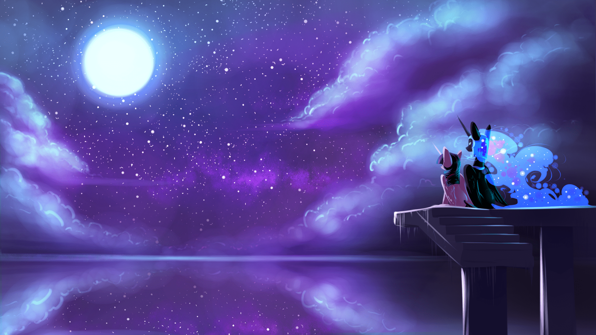 Equestria Girls Android Wallpaper Night Sky