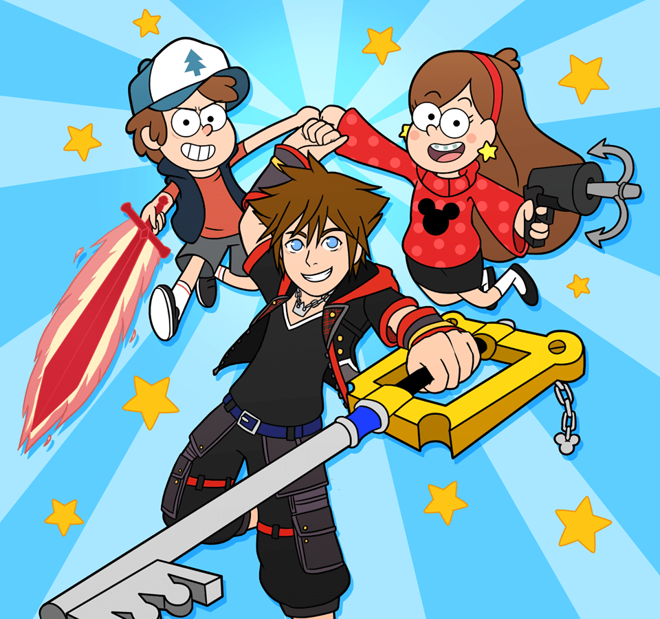 Gravity Falls Trust No One Wallpaper Sora Mabel And Dipper Kingdom Hearts Know Your Meme