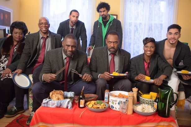 Sport Relief 2016 - Cecilia Noble, Ian Wright, Rio Ferdinand, DCI John Luther (IDRIS ELBA), David Haye, Sir Lenny Henry, Denise Lewis, Louis Smith